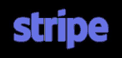 Stripe logo – blue